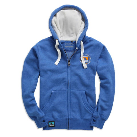 Troggs Sticker Zipped Hoodie Royal Melange
