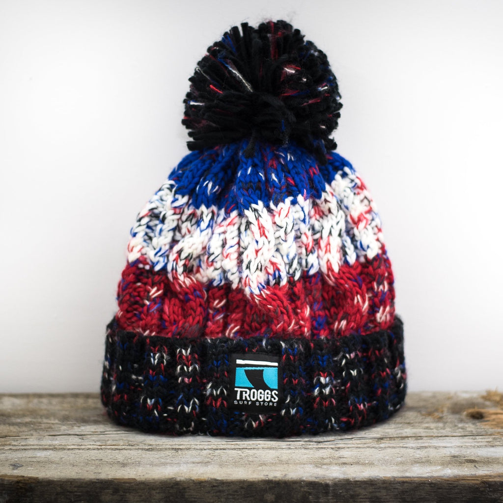 Troggs Cable Knit Beanie Retro Blue