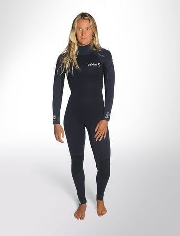 C-Skins Surflite 4:3 Womens GBS Back Zip Steamer
