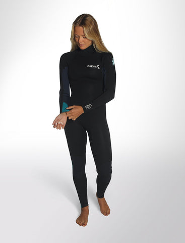 C-Skins Surflite 5:4:3 Womens GBS Back Zip Steamer