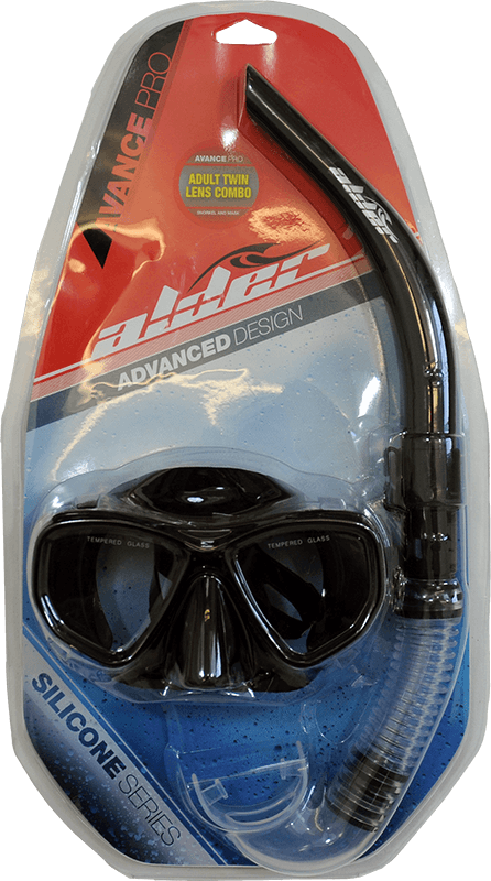 Alder Avance Pro Twin Lens Mask and Snorkel