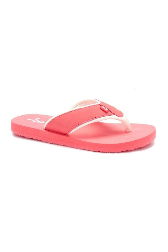 Animal Swish Block Flip Flop Rouge