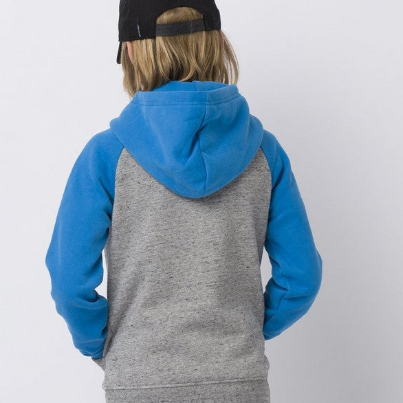 Animal Humming Hoody Zip Grey Marl