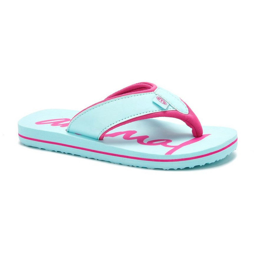 Animal Swish Logo girls Flip Flops Misty