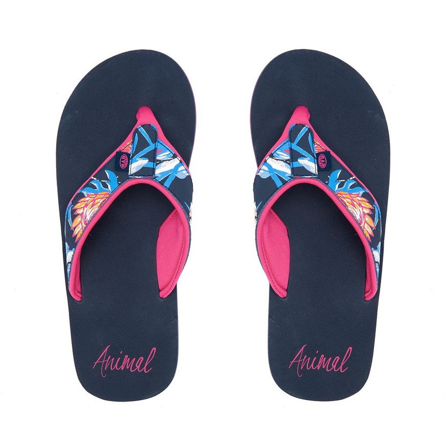 Animal Swish Upper Aop Flip Flop India Ink Blue