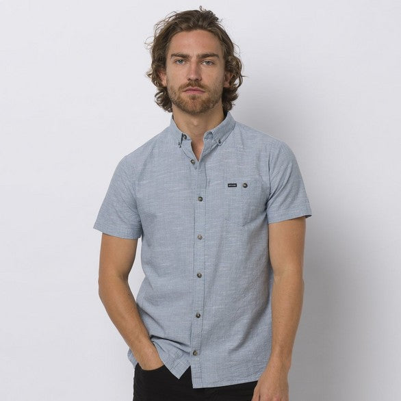 Animal Fleck S/S Shirt Lead Grey