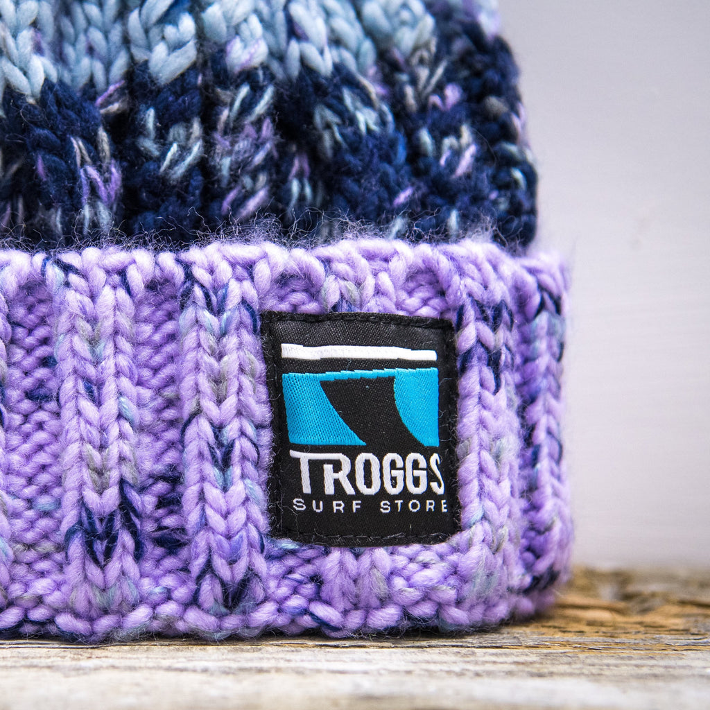 Troggs Cable Knit Beanie Violet