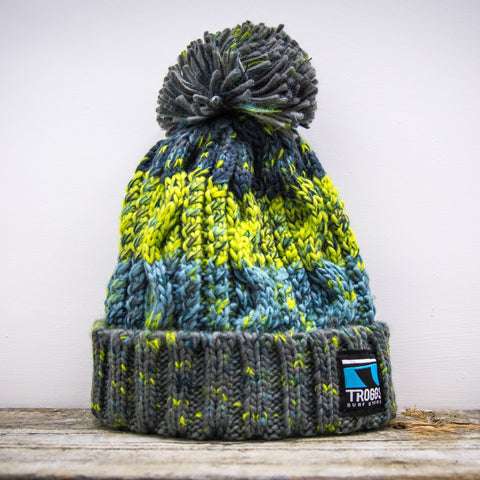 Troggs Cable Knit Beanie Green