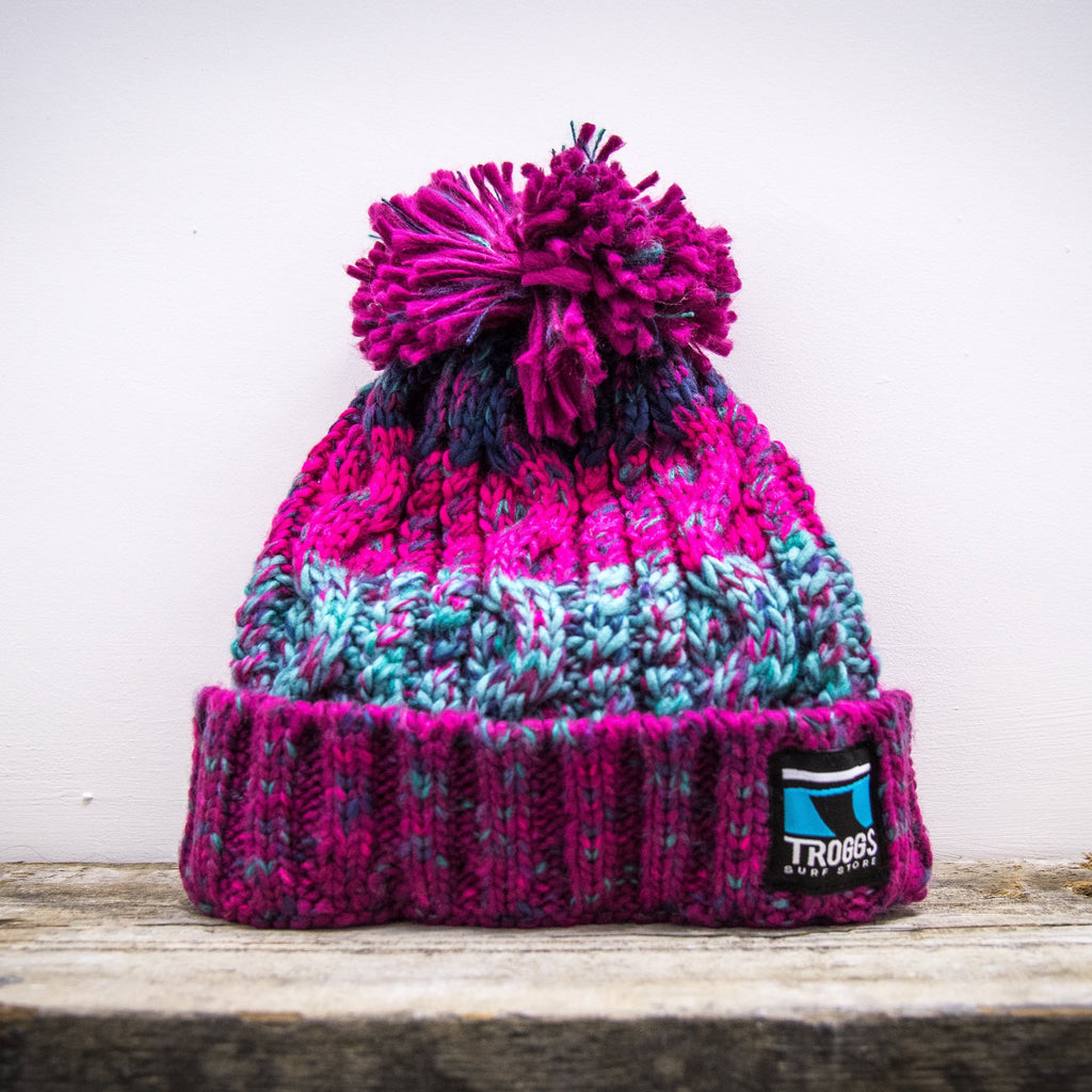 Troggs Cable Knit Beanie Pink