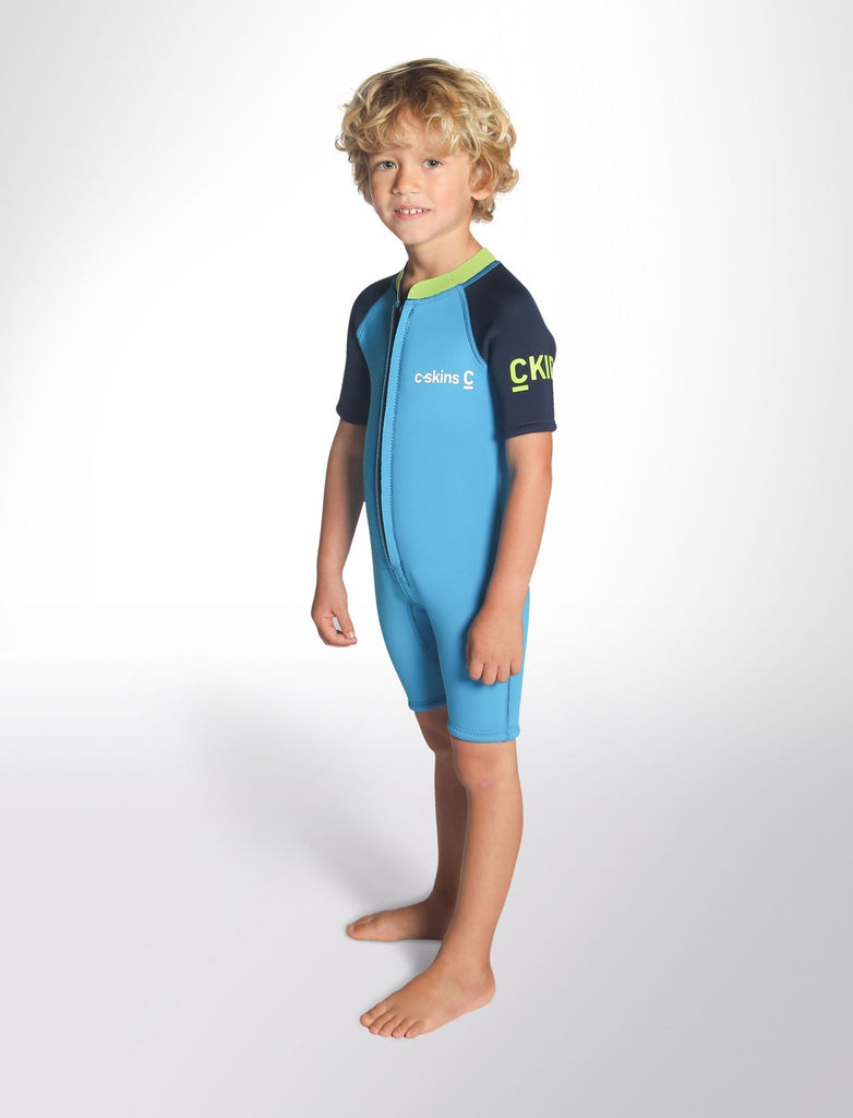C-Skins Baby Shorti C-KID Cyan/Navy/Lime