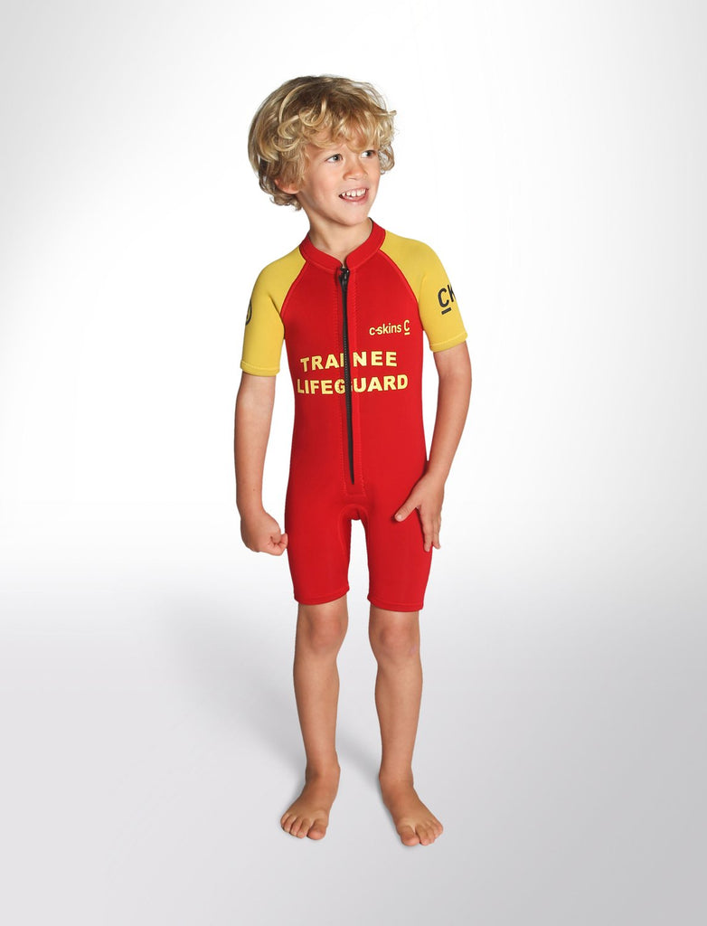 C-Skins Baby Trainee Lifeguard 3/2 FZ Shortie - Red Yellow