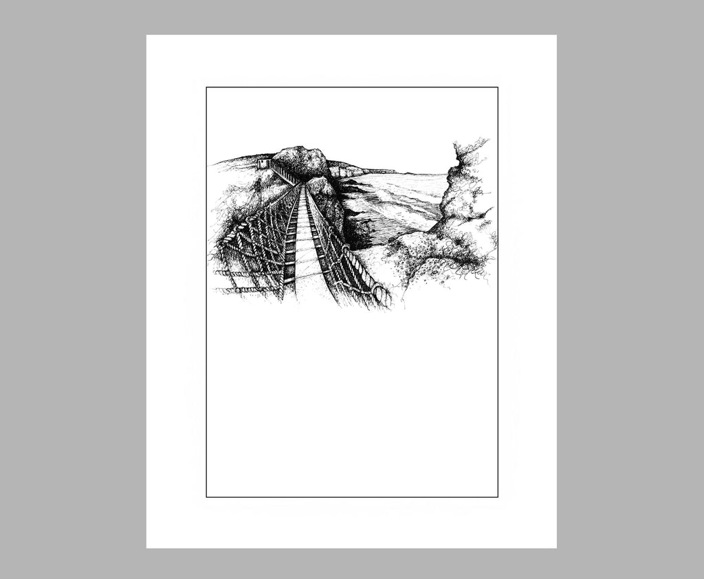'CARRICK-A-REDE ROPE BRIDGE' PRINT