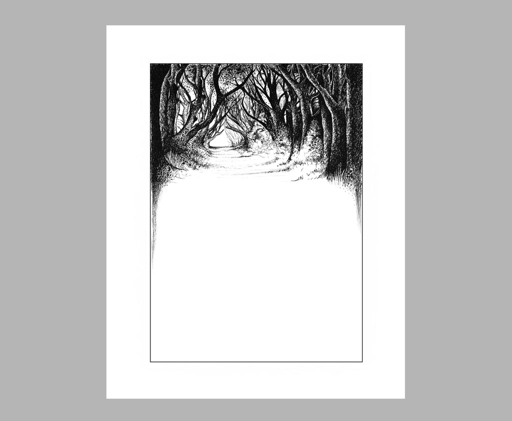 'THE DARK HEDGES' PRINT