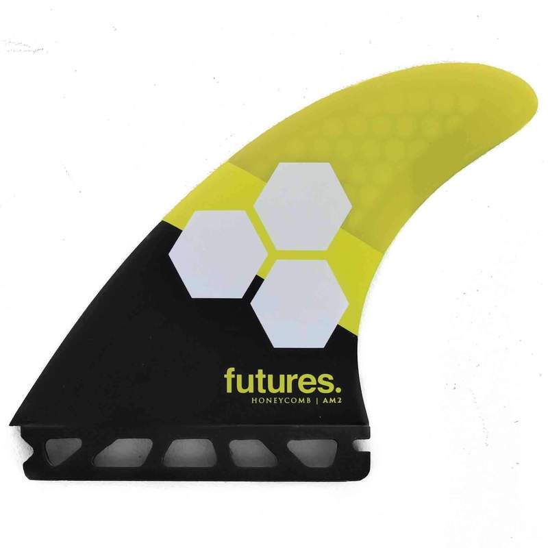 Futures AM2 Honeycomb Large Fins Yellow