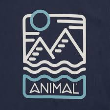 Animal Isle Tee - Indigo