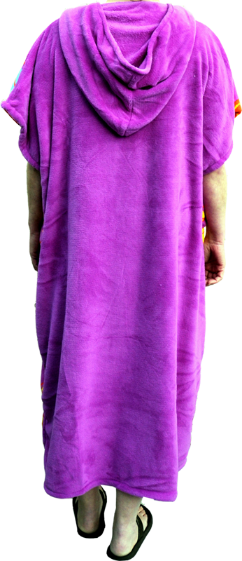 Alder Fleece Poncho Ladies Violet