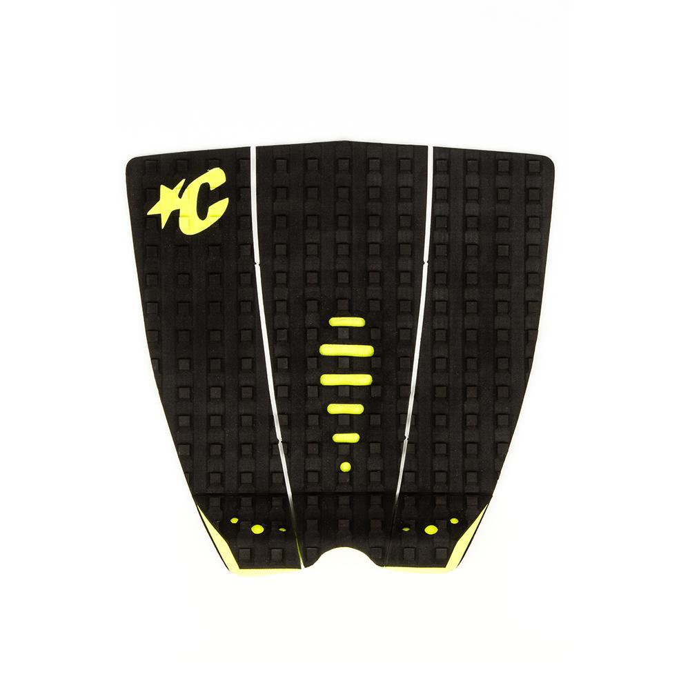 Creatures of Leisure Mick Fanning Traction Pad - Black/Citrus
