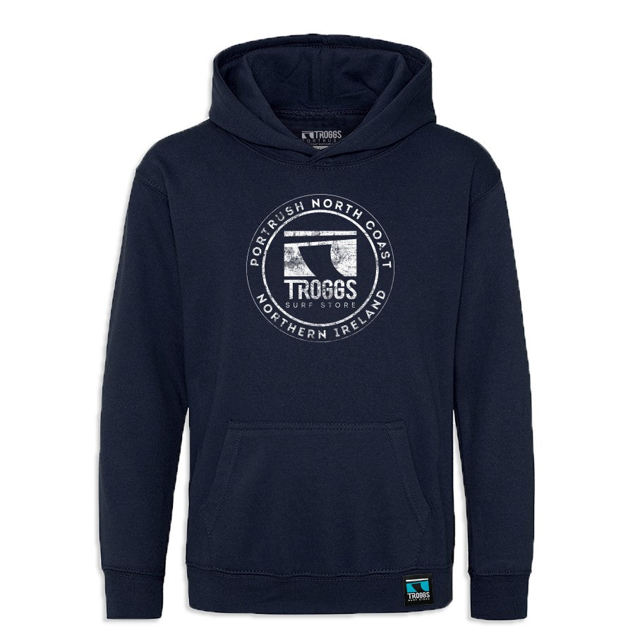 Troggs Kids Sticker Hoody French Navy