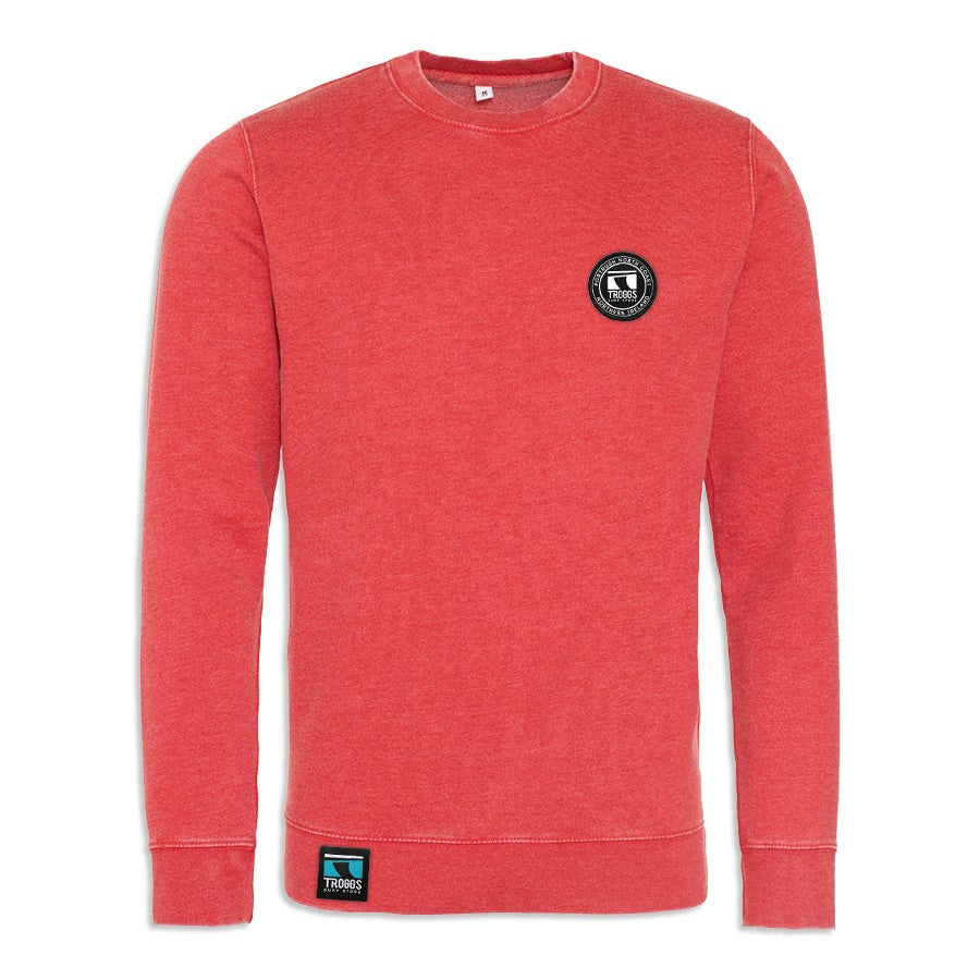 Troggs Patch Washed Sweatshirt - Red