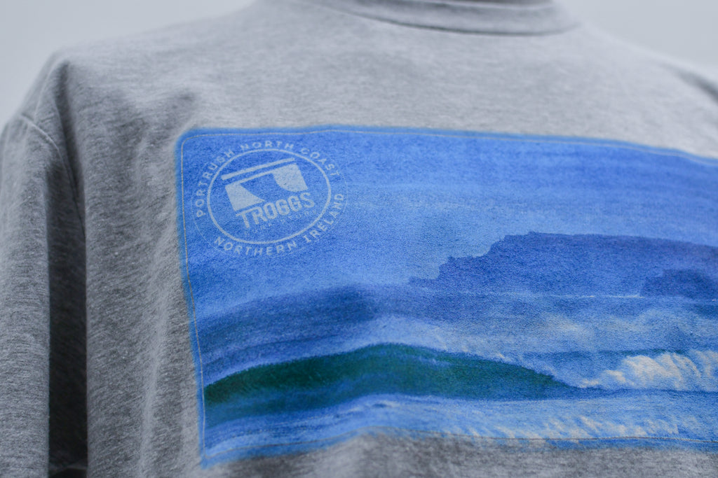 Troggs Causeway Wave Tee Heather Grey