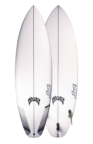 LOST 6' x  20 1/2 x  2.62 UBER DRIVER XL SQ FUTURE 3 FIN BLACK Volume 36 Litres