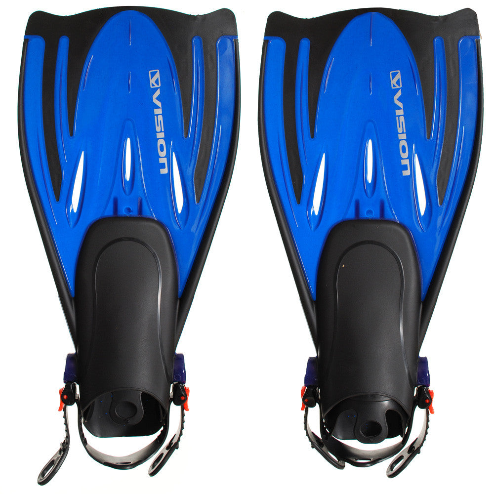 Vision Dive Fin Open Heel - Blue