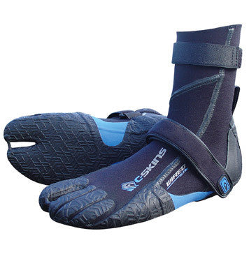 C-Skins Wired 6.5mm Split Toe Boot  - Black Blue