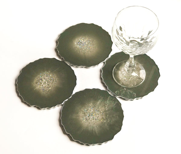 Olive Green Coasters