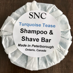 Turquoise Tease Shampoo and Shave Bar