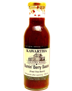 A berry delicious sauce! This unusual product is made with a variety of berries and hot peppers to produce a delightfully bright sauce with a fiery flavour. Use as a marinade for red meats or pork to give your dish an added zing!  Jar Size: 355ml *Vegan, Gluten-free, & Non-alcoholic
