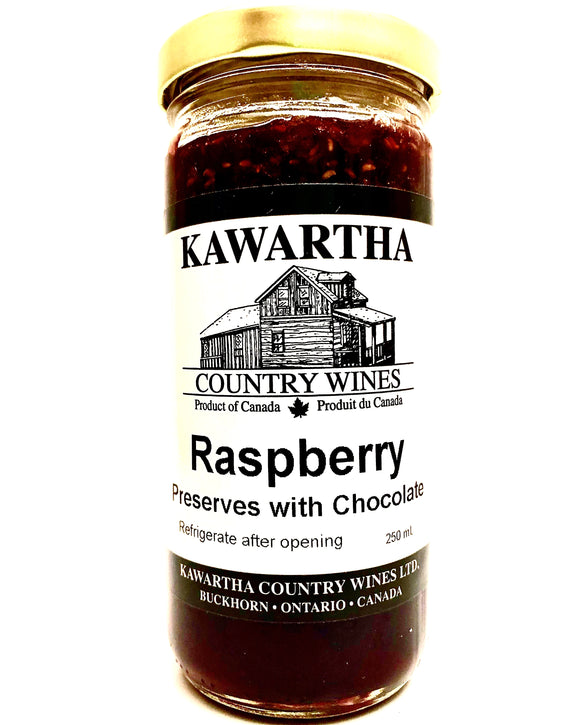 Raspberry & Chocolate Preserves with Wine
