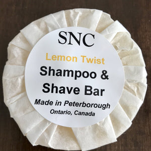 Lemon Twist Shampoo and Shave Bar