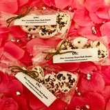 Small Rose Geranium Heart Bath Bombs