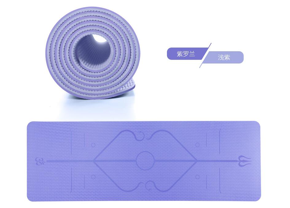 TPE Yoga Mat Non Slip Carpet my products Another Ideal Shop 6mm Purple