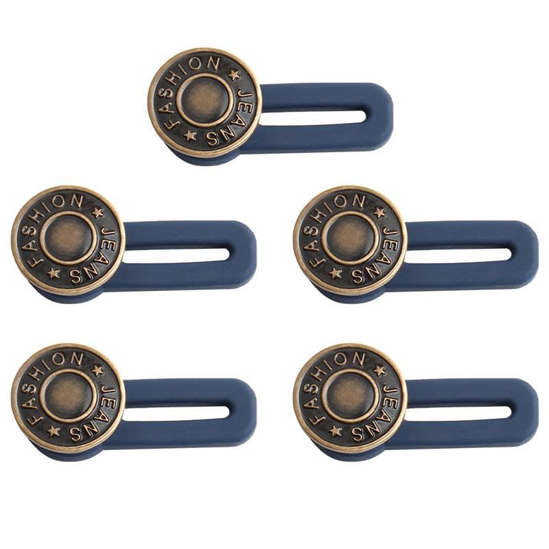 5pcs Free Adjustable Buttons Sewing Removable Removable Waist Jeans Metal Button Extended Pant Buckles Belt Expander כפתורים DIY House Decoration Store