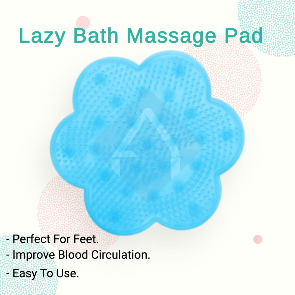 Lazy Blue Flower shape Bath Massage Pad | Another Ideal Shop