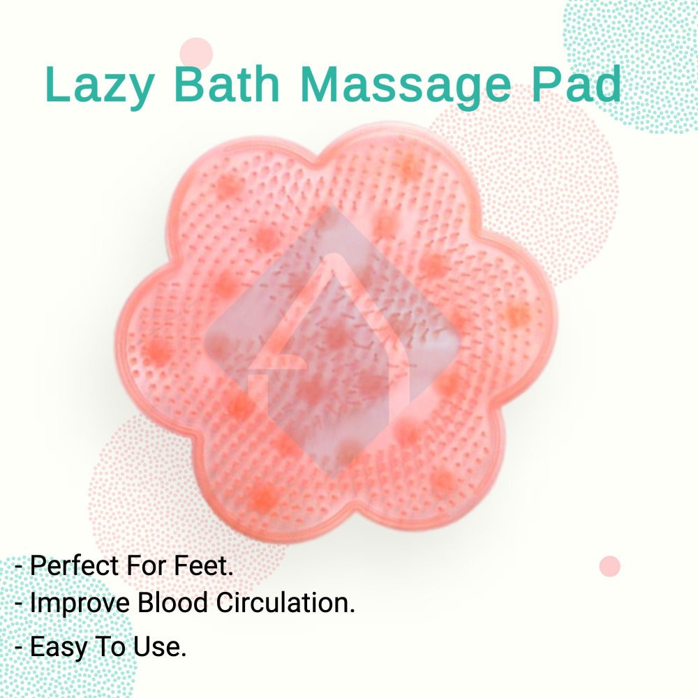 Pink Flower Shape Lazy Bath Massage Pad | Another Ideal Shop