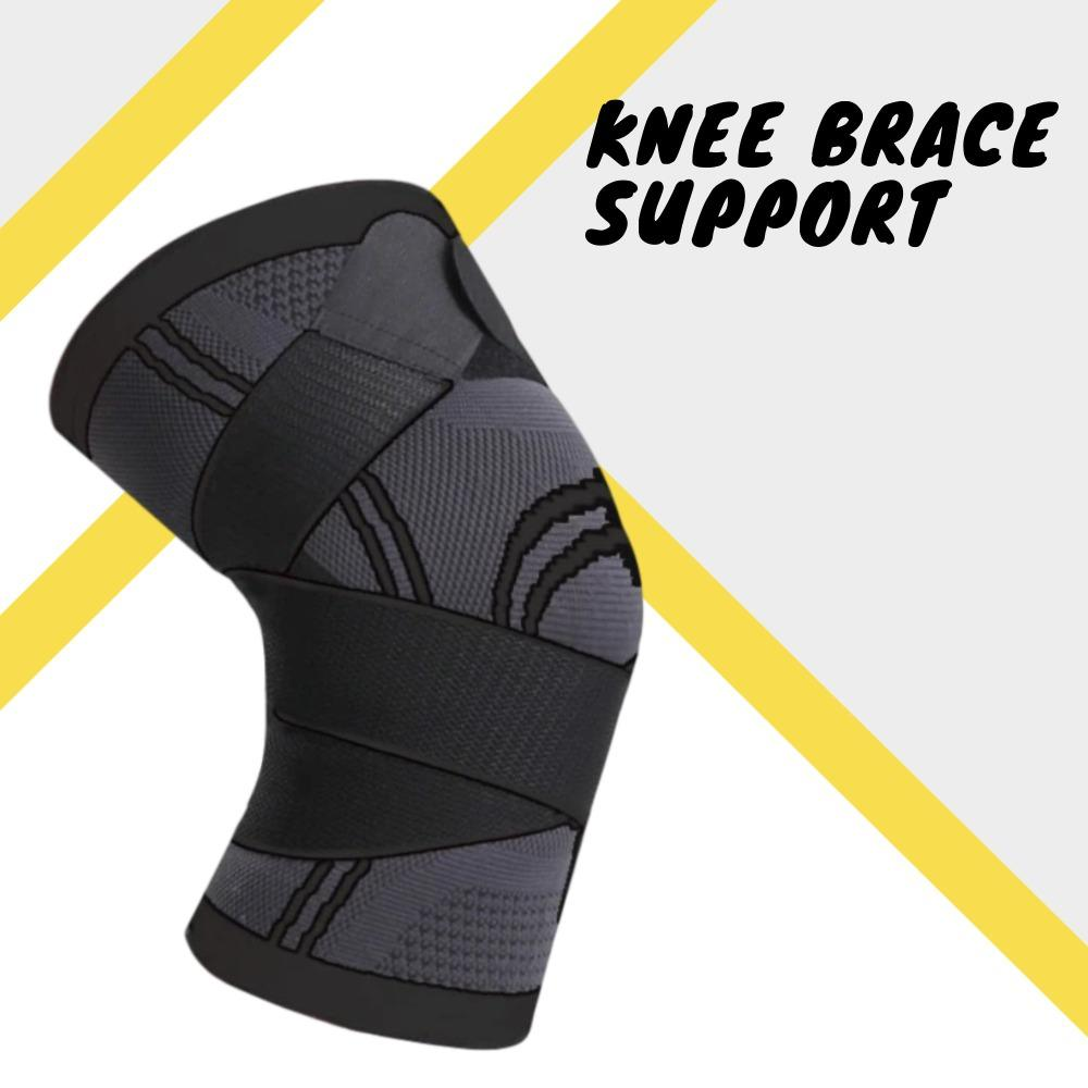 Knee Brace Support Elbow & Knee Pads WorthWhile Official Store S BLACK