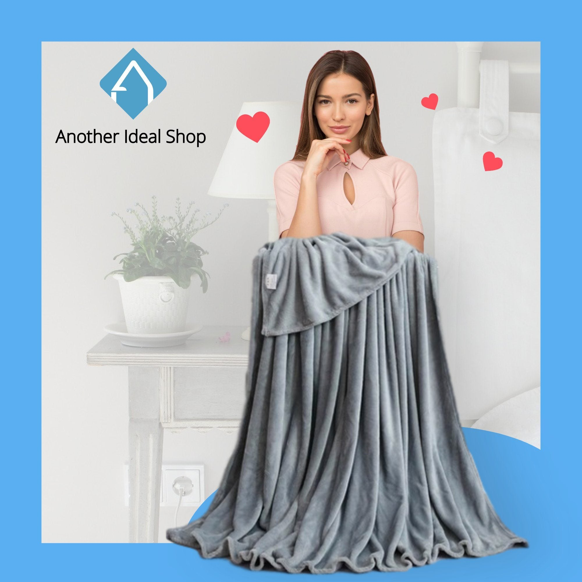 Luxury Weighted Blanket Another Ideal Shop 70cm x 100cm Silver