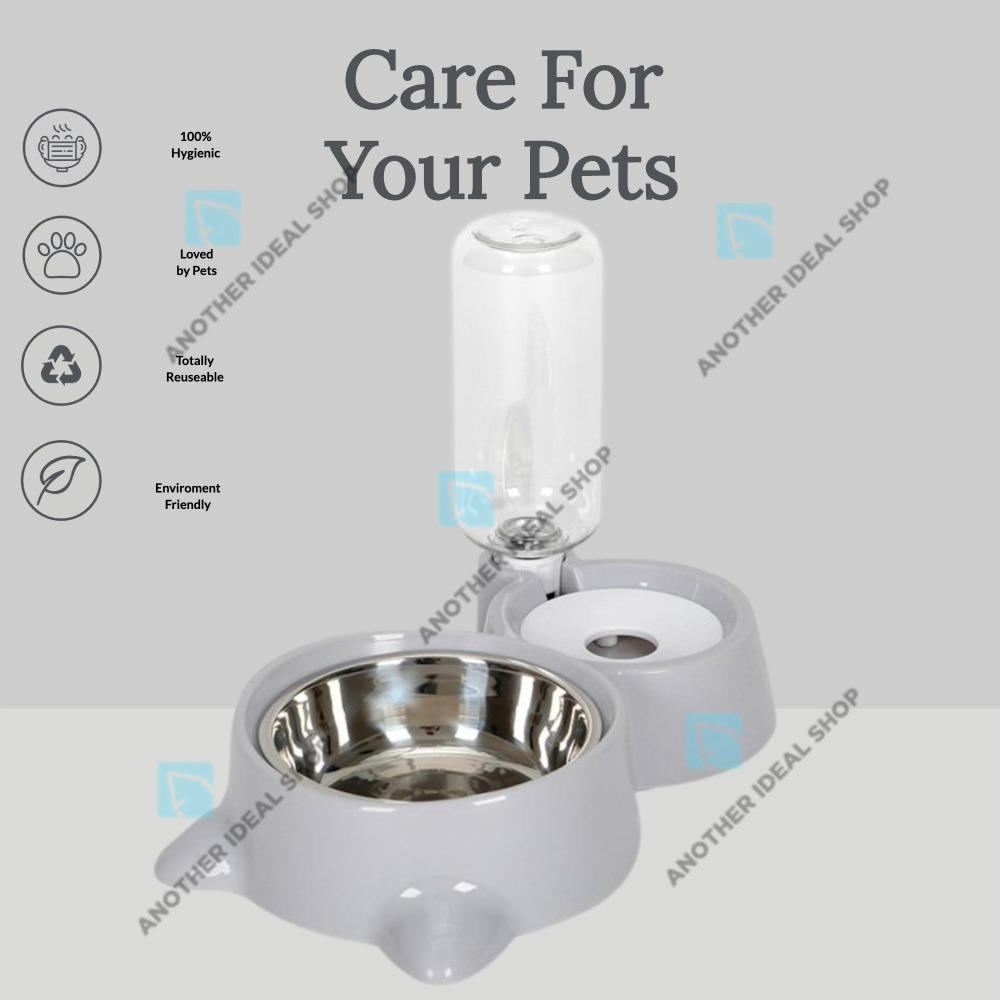 2-in-1 Automatic Water Dispenser Feeder Cat Feeding & Watering Supplies Surprising World Store Grey