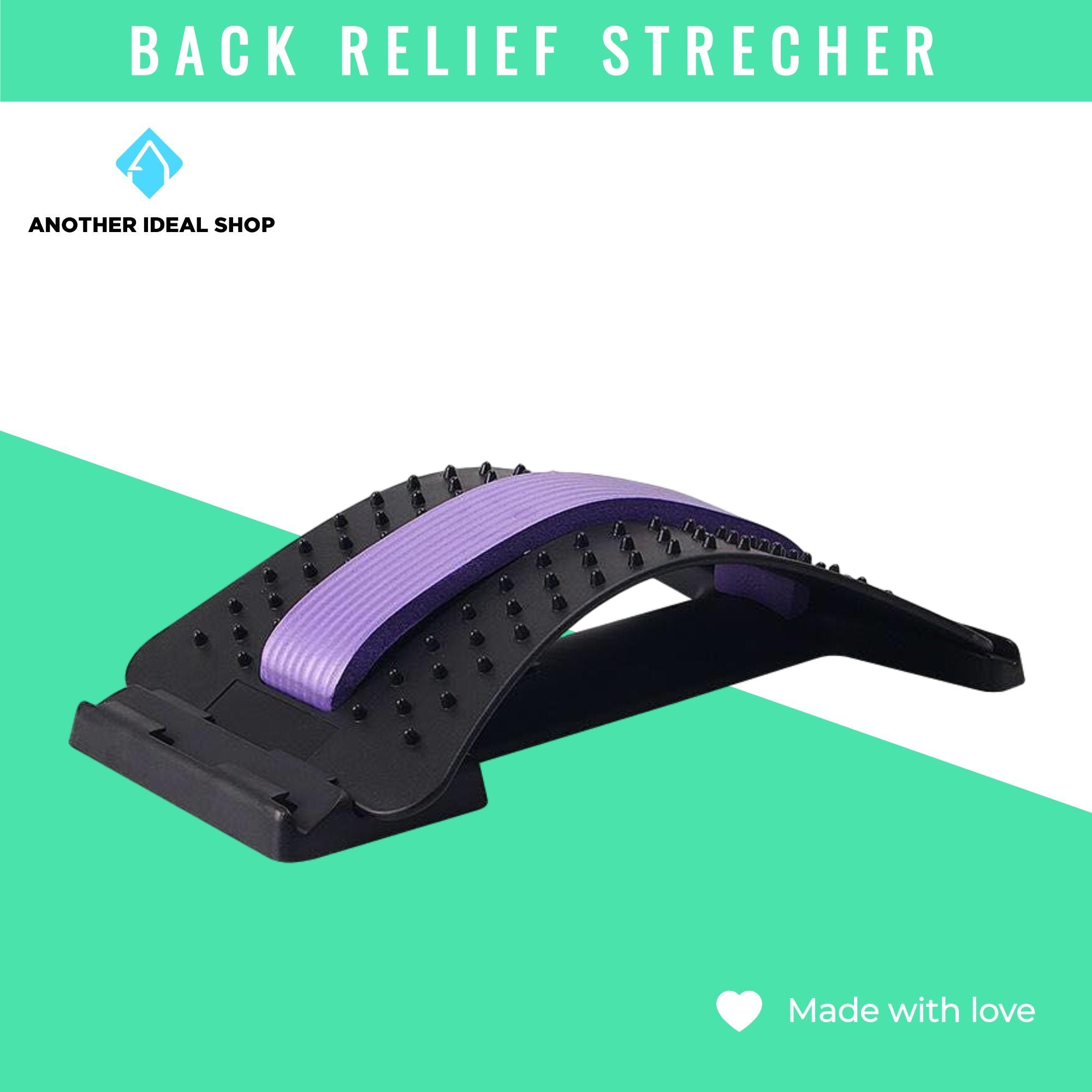 Lumbar Disc Herniation Traction Device Another Ideal Shop Purple-Black
