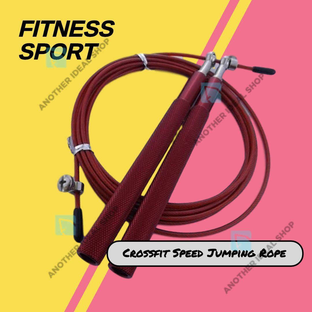 Crossfit Speed Jumping Rope Jump Ropes Ride Force Official Store Red