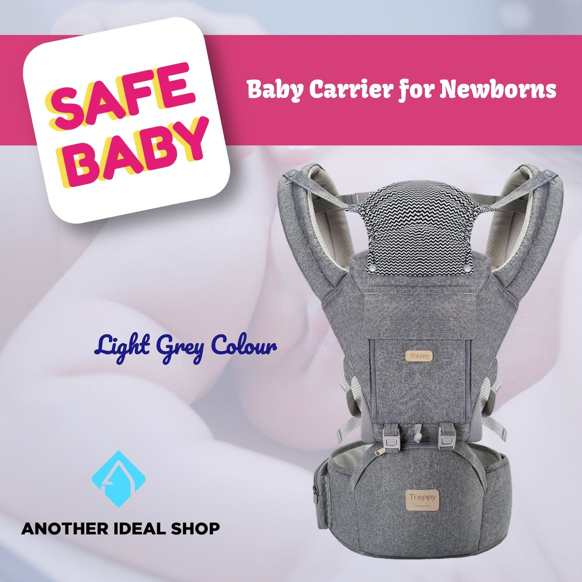 The Unique Baby Carrier Another Ideal Shop Light Grey