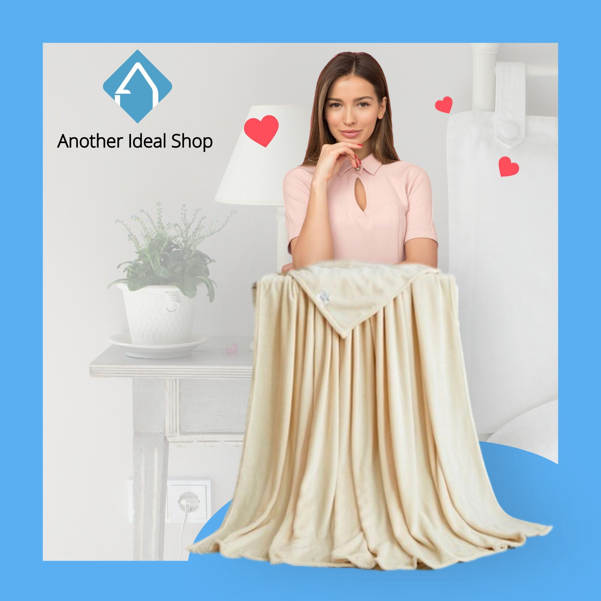 Luxury Weighted Blanket Another Ideal Shop 70cm x 100cm Biege