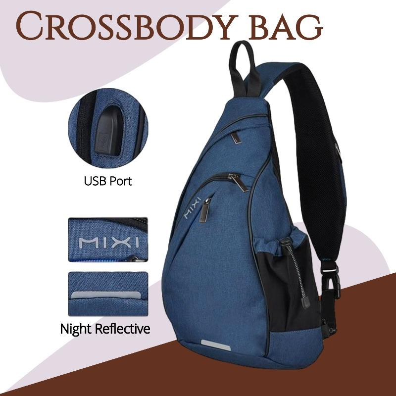 Cycling Crossbody Bag Another Ideal Shop Blue 19 inches