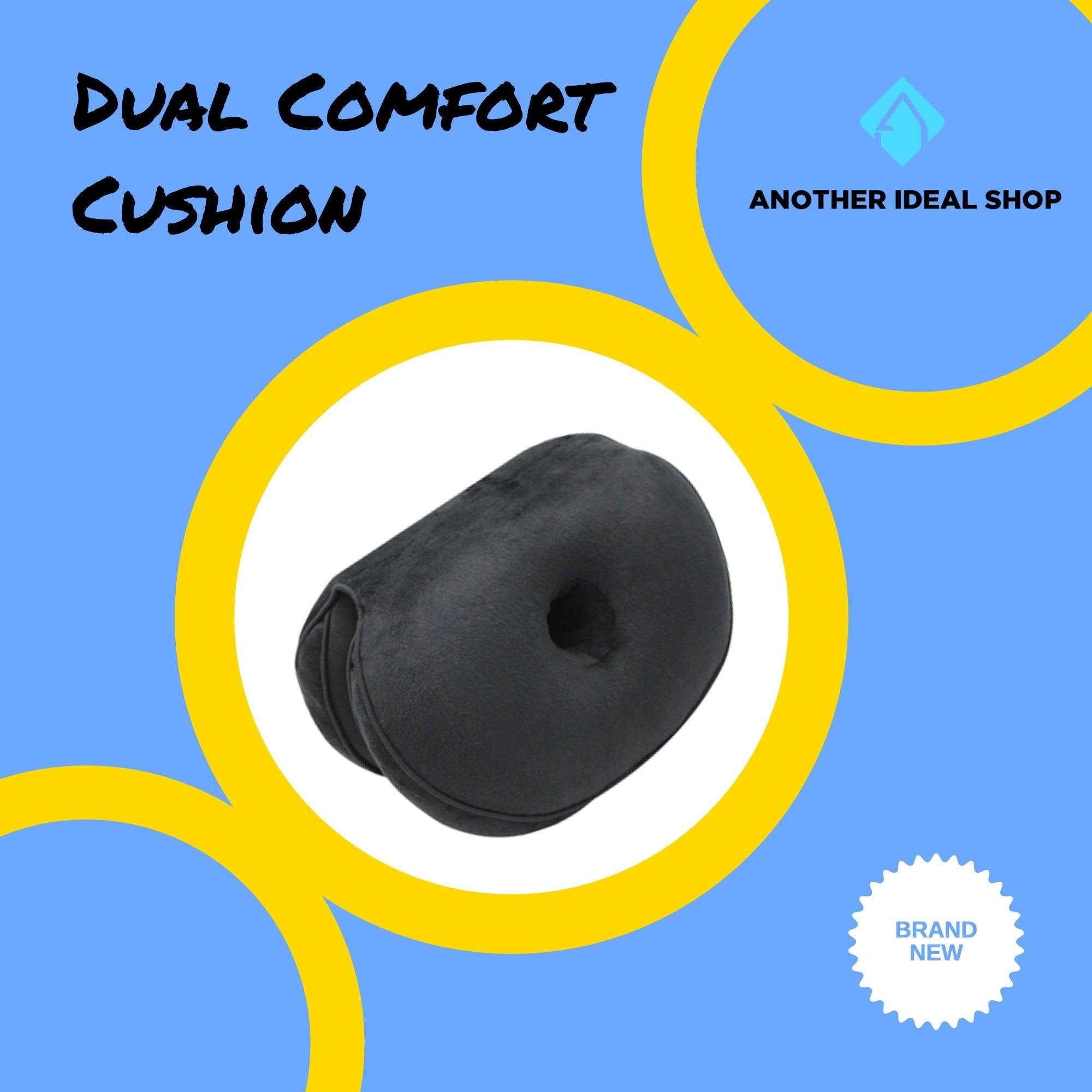 Dual Comfort Cushion my products AODMUKI Official Store Black