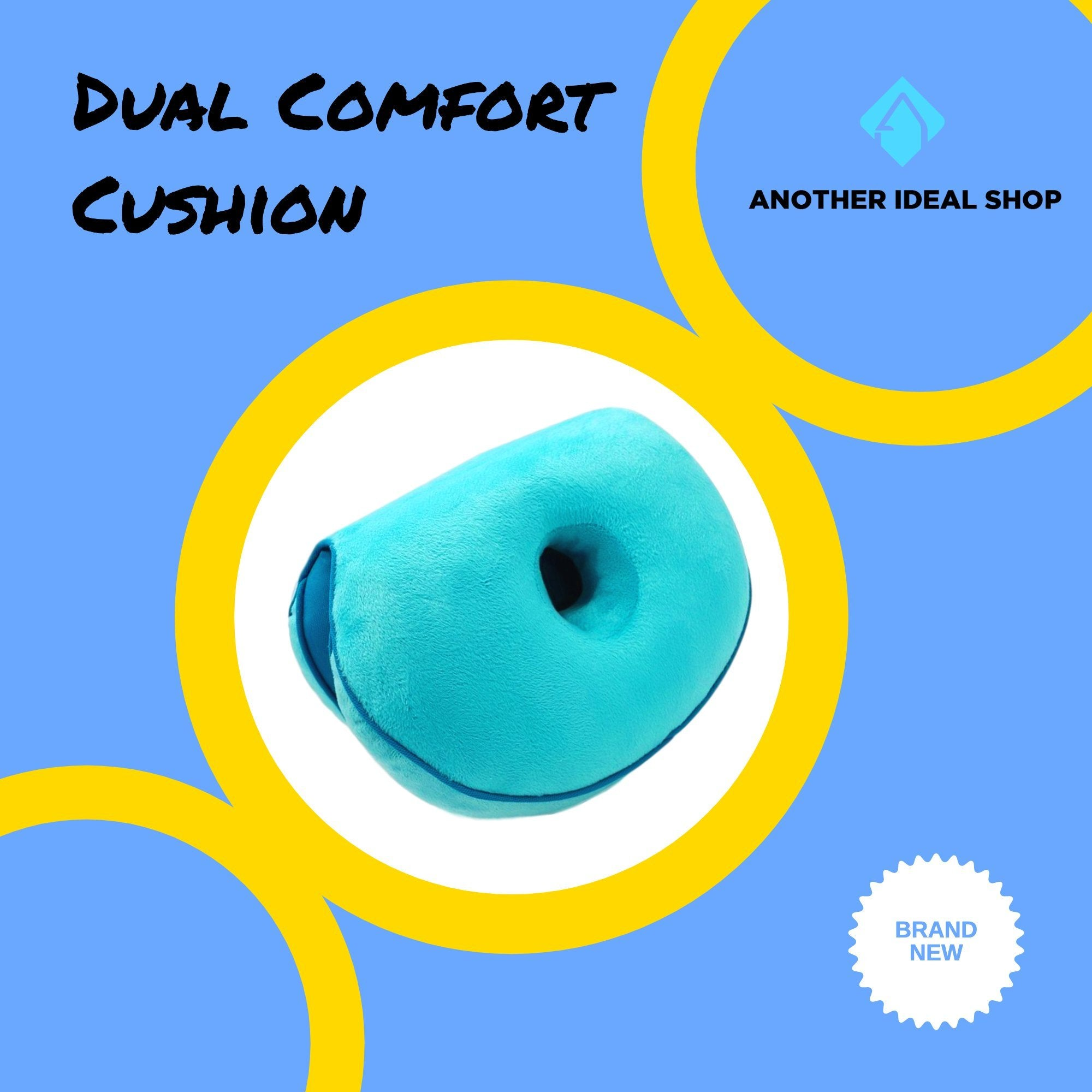 Dual Comfort Cushion my products AODMUKI Official Store Blue