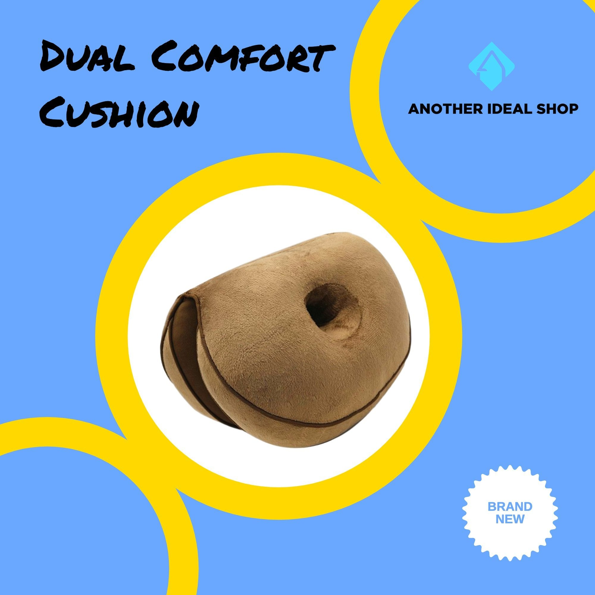 Dual Comfort Cushion my products AODMUKI Official Store Brown