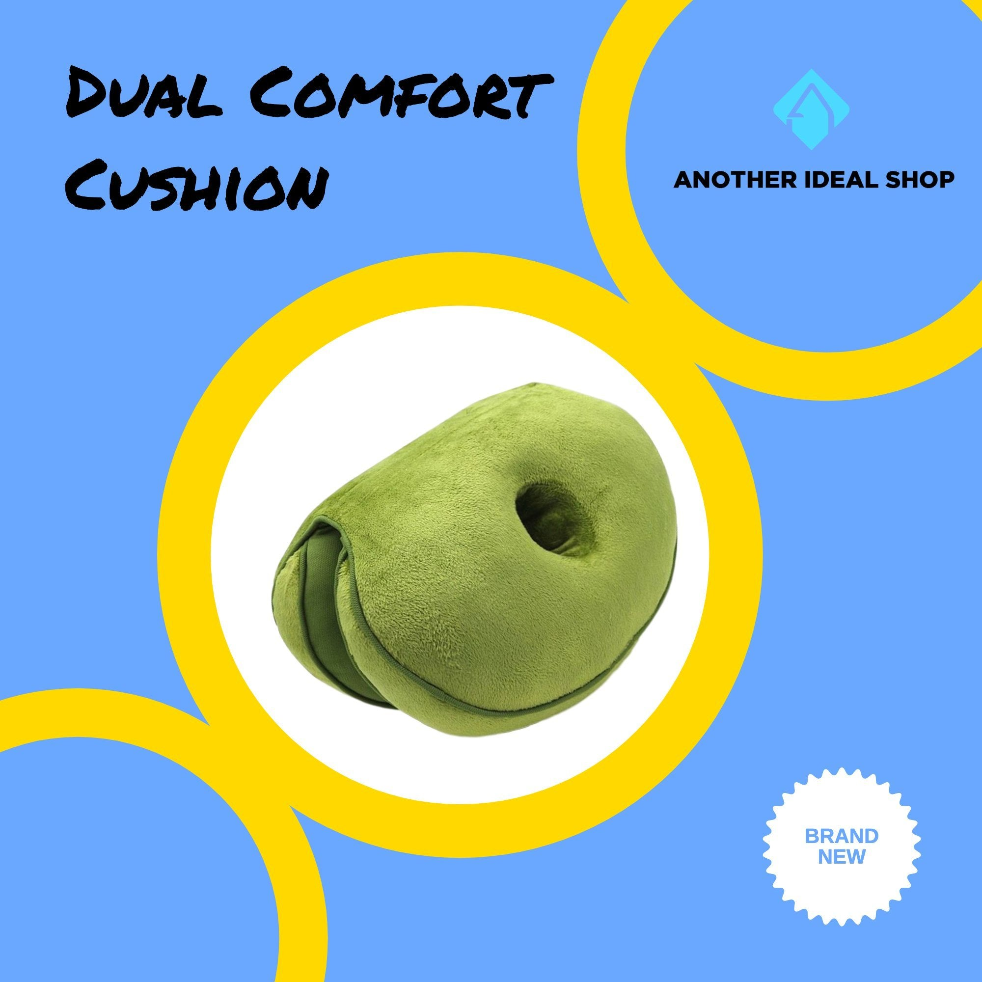 Dual Comfort Cushion my products AODMUKI Official Store Green