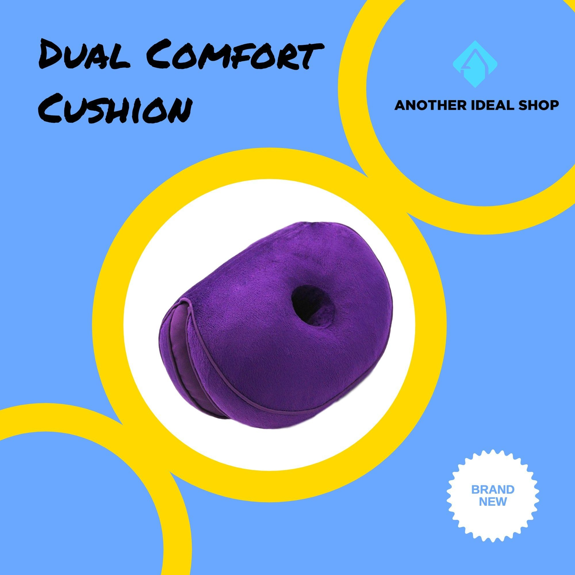 Dual Comfort Cushion my products AODMUKI Official Store Purple